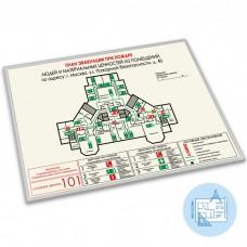 План эвакуации фотолюм. (пластик, алюминиевый профиль, с разработкой макета)