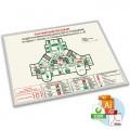 План эвакуации фотолюм. (пластик, алюминиевый профиль, по макету заказчика)
