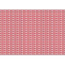 Указатель напряжения 36 В, 20х10 мм., 315 шт. на листе
