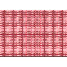Указатель напряжения 220 В, 20х10 мм., 315 шт. на листе
