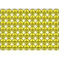 Заземлено (круг), 30х30 мм., 70 шт. на листе