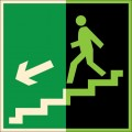 ФЭС-E14. Направление к эвакуационному выходу по лестнице вниз
