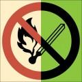 ФЭС-P02. Запрещается пользоваться открытым огнем и курить